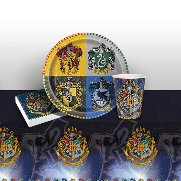 Potter Party 8 to 48 Guest Starter Party Pack Tablecover Cups