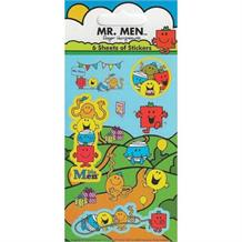 Mr Men Party Bag Favour Sticker Sheets