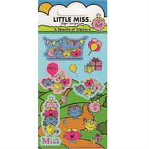 Little Miss Party Bag Favour Sticker Sheets