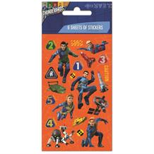 Thunderbirds Party Bag Favour Sticker Sheets