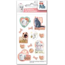 Secret Life of Pets Party Bag Favour Sticker Sheets