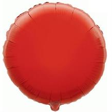 "Red Plain Coloured Circle 18"" Foil 