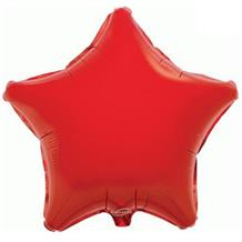 "Red Plain Coloured Star 19"" Foil 