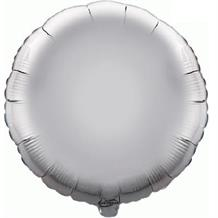 "Silver Plain Coloured Circle 18"" Foil 