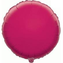 "Hot Pink | Fuchsia Plain Coloured Circle 18"" Foil 