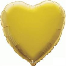 "Gold Plain Coloured Heart 18"" Foil 