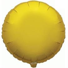 "Gold Plain Coloured Circle 18"" Foil 