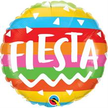 "Fiesta Rainbow Stripes 18"" Foil 