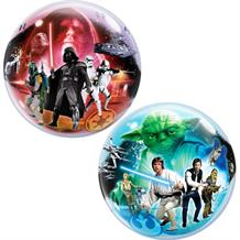 "Star Wars 22"" Qualatex Single Bubble Helium Quality Latex Party Balloon"