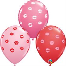Red | Pink Kissey Kiss Lips Latex Balloons