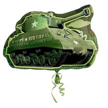 Army Camouflage Tank Shaped Foil | Helium Balloon