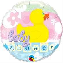"Unisex Rubber Duck Baby Shower 18"" Foil 