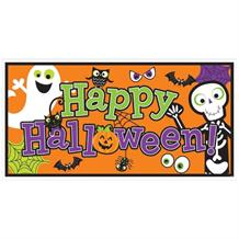 Happy Halloween Giant Foil Party Banner | Decoration