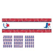 Western Bandana & Jeans Party Giant Personalisable Banner | Decoration