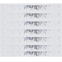 Just Married Silver Wedding Mini Banner | Decoration