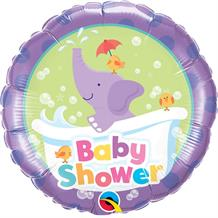 "Purple Elephant Baby Shower 18"" Foil 