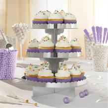 Silver Party Cupcake Stand | Decoration