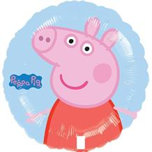 Peppa Pig Round Party Foil | Helium Balloon