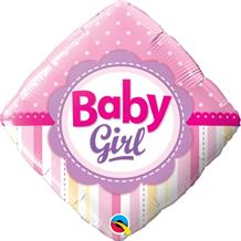 "Baby Girl Pink Diamond Baby Shower 18"" Foil 