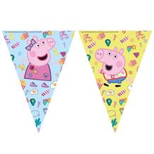 Peppa Pig Treats Party Triangle Flag Banner | Bunting
