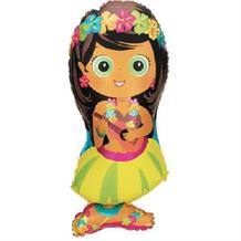 "Hula Girl Luau Shaped 34"" Foil 