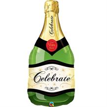 Celebrate Champagne Bottle Shaped Foil | Helium Balloon