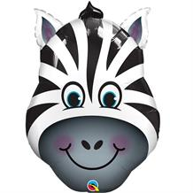 "Zebra Head 32"" Shaped Foil 