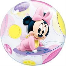 "Baby Minnie Mouse 22"" Qualatex Bubble Party Balloon"