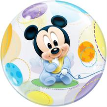 "Baby Mickey Mouse 22"" Qualatex Bubble Party Balloon"