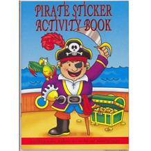 A6 Pirate Sticker Activity Party Bag Favour