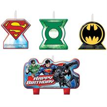 Justice League Party Cake Candles | Decorations