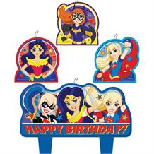 DC Super Hero Girls Party Cake Candles