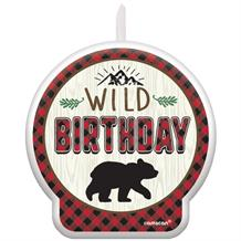 Little Lumberjack Bear Party Cake Candles