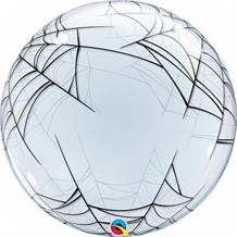 "Spider Web 24"" Qualatex Single Bubble Helium Quality Latex Party Balloon"