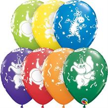 "Colourful Party Animals | Elephant | Zebra 11"" Qualatex Latex Party Balloons"