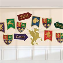 Medieval Thrones Party Cut-out Decorations