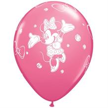Minnie Mouse Rose Pink Birthday Party Latex Balloons