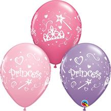"Pink Princess 11"" Qualatex Latex Party Balloons"