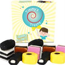 Timmy's Treats Liquorice Allsorts Sweet Gift Box 125 grams