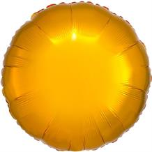 "Anagram Gold Unpackaged Plain Coloured Circle 18"" Foil 