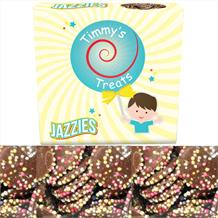 Timmy's Treats Jazzies Chocolate Candy Discs Sweet Box 125 grams