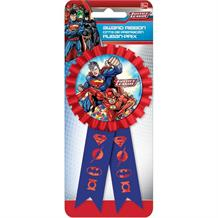 Justice League Confetti Award Ribbon Favour