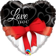 "Love You Ribbon 18"" Foil 