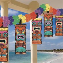 Hawaiian Tiki Flower Garland Banner | Decoration