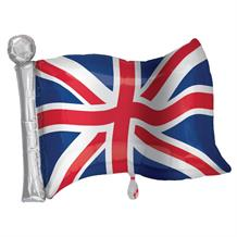 Union Jack Flag Shaped Foil | Helium Balloon