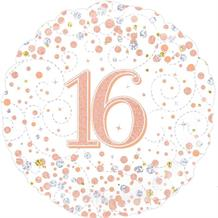 "Rose Gold Confetti 16th Birthday 18"" Foil 