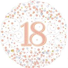 "Rose Gold Confetti 18th Birthday 18"" Foil 