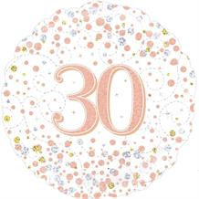 "Rose Gold Confetti 30th Birthday 18"" Foil 