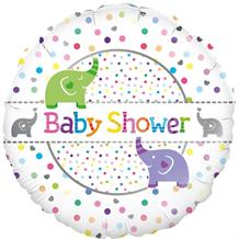 "Baby Shower Elephants 18"" Foil 
