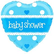 "Blue Polka Dot Baby Shower 18"" Foil 